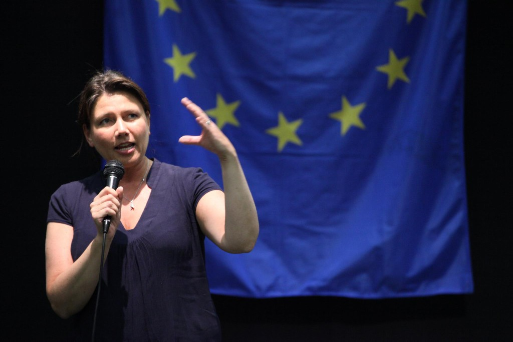 Heidi Nordby Lunde på Europeisk Ungdoms sommerleir 2017